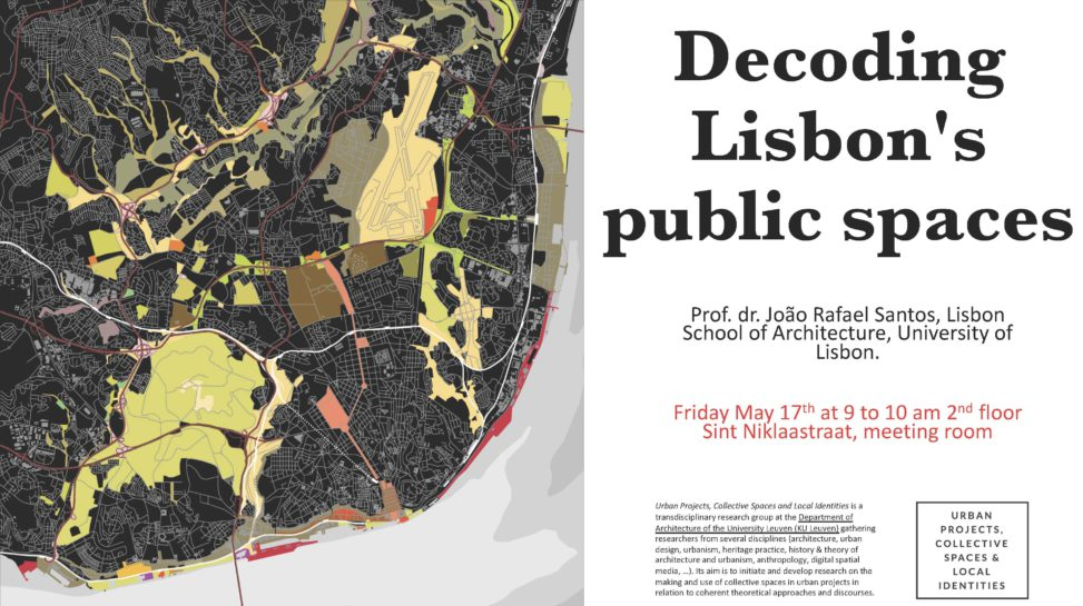 Two lectures by Prof  dr  João Rafael Santos – Urban Projects